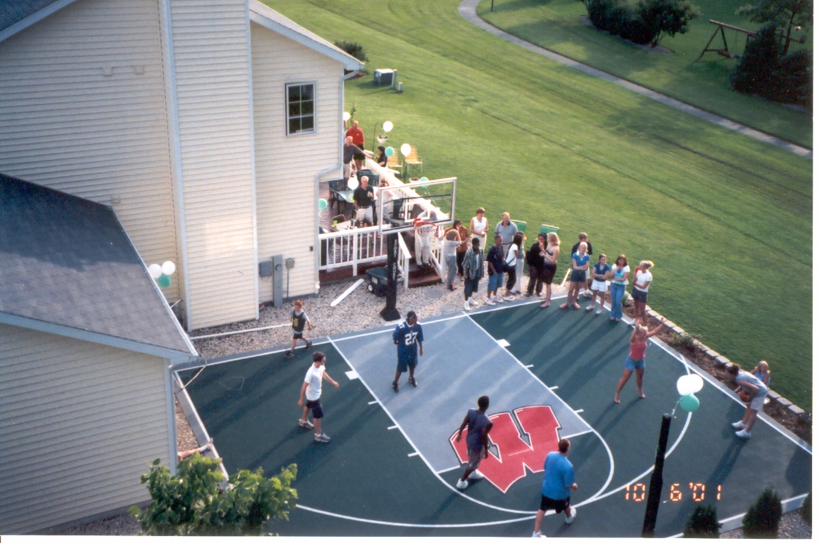backyard courts lake shore sport court