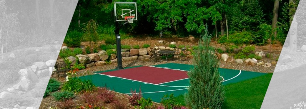 Backyard sport court
